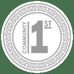 community first - bw logo