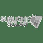 sunlight solar - bw logo